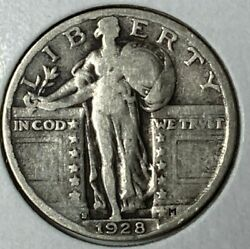 1928 S Inverted S Fs-501 Very Good Vg Standing Liberty Us Silver Quarter 25c