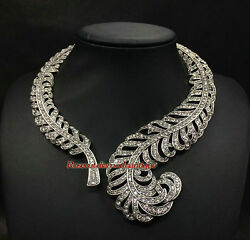 Antique Rose Cut Diamond 10.24ct Wedding Party Style Hand-made Choker And Necklace