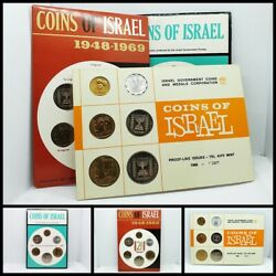 Lot Of 3 Coins Of Israel Proof-like Coin Sets / 1966 1967 1969 1948-1969