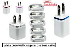 Wholesale Wall Cube Charger And Usb Data Cable For Iphone Xs Max Xr X 11 8 7 6 5