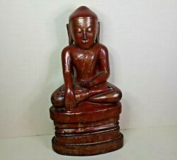 Antique Burmese Lacquer-wooden Buddha 18th-19th Century.