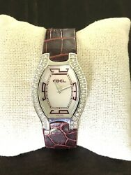 Ebel Ladyand039s Beluga Stainless Steel Watch With Diamond Dial.