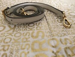 Michael Kors Leather Replacement Crossbody Shoulder Bag Strap White Gold $27.99