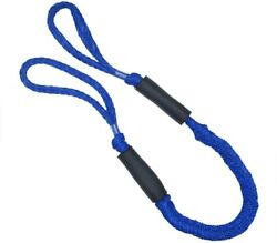 2pcs 4-5.5ft Blue Mooring Rope Cords Bungee Dock Line For Boat Kayak Stretch