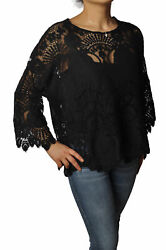 Pink Memories Jersey/shirt In Lace 10860-magliapizzo-02nero