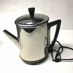 Vintage Ge Automatic Coffee Percolator 10 Cup Model 21p33 General Electric Usa