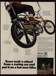 1969 Sears Screamer Boy's Bicycle - Banana Seat - Candy Apple Paint Vintage Ad