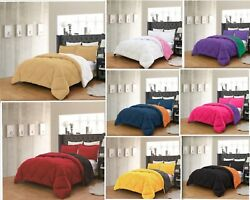 Empire Home Down Reversible Comforter And Pillow Shams 3-piece Set In All Colors