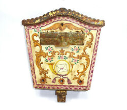 Letter Box With Key Iron Painted Tyrol Xix Century
