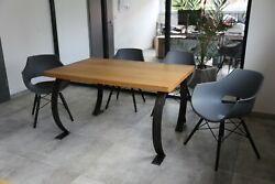 Dining Table Oak Solid 140 X 90 Handmade Design Protected
