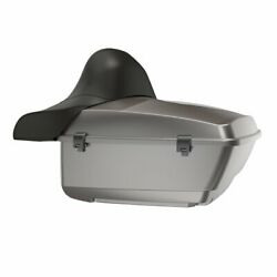 Billet Silver King Tour Pack Trunk Black Hinges And Lath For 97 -20 Harley Touring