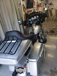 Advanblack Brilliant Silver King Tour Pack Trunk Luggage F/ 97-20 Harley Touring