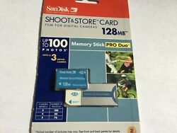 1pcs New 128mb Sony Pro Duo Memory Stick + A Full Side Adapter Sony Devices