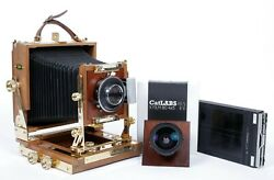 Zone Vi Gold Plated 4x5 Camera With 90mm + 150mm Lenses + Holders + Film 10