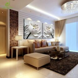 3d Art Modular Pictures Flower Lotus Poster Wall Paintings Canvas Living Room
