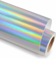 Holographic Adhesive Craft Vinyl 12 Inch X 6 Feet For Cricut, Silhouette And Cameo