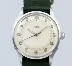 Omega Arabia Index 2438-1 Cal.28.10 Automatic Winding Vintage Watch 1940's