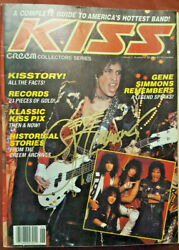 Kiss Gene Simmons Signed 1987 Cream Collector's Series Magazine