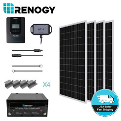 Renogy 400w Solar Panel Br Kit With 170ah Lithium Battery And 30a Mppt Controller