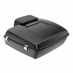 Advan Black Pearl Chopped Tour Pack Trunk Luggage For Harley Touring 1997-2020