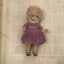 Cute Small All Bisque Doll in Crocheted Outfit for your Bleuette $24.95