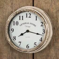Primitive/cottage/country General Store Wall Decor Clock