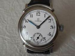 Omwga Small Second Porcelain Dial Manual Winding Vintage Watch 1930and039s