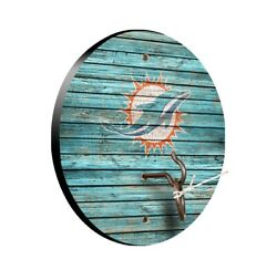 Nfl Miami Dolphins Tiki Toss Hook And Ring Game Tailgate Drinking Xmas Gift