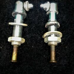 Porsche 356 B/c Windshield Washer Nozzles Matched Pair W. All Mounting Hardware