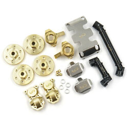 Yeah Racing Axial Scx24 Upgrade Set W/ Brass Skid Plates And Driveshafts Axsc-s04