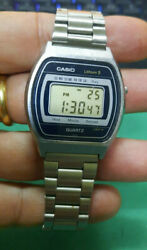 Casio S004 Rare Vintage Lcd Digital Watch Module-122 From 1980 Good Condition
