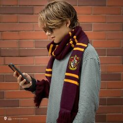Official Warner Bros Licence Harry Potter Gryffindor Scarf - Deluxe Edition