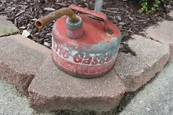 Rare Vintage Eagle The Gasser 1 Us Gallon Galvanized Gas Can Model M-1 And Spout