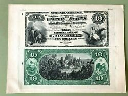 1875 10 National Currency Proof Fnb Of Philadelphia Heath Counterfeit Detector