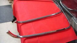 Original 1967 Shelby Mustang Deluxe Seat Back Chrome Moldings Gt350 Gt500 Kr500