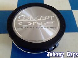 Concept One Wheels [79] Matte Black And Silver Center Cap 2204000125 Qty. 1