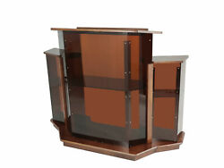 Large Delux Church Pulpit 61 Wide X 24 Deep X 47 Tall Wood Acrylic Preach Lec