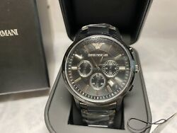 Emporio Armani AR2453 Chronograph Black Ion Plated Stainless Steel 43mm $79.00