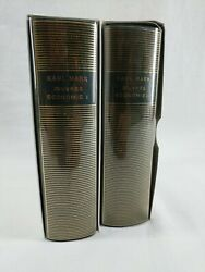 Œuvres Economie I And Ii Capital, Karl Marx, 1963 Hardcover Set, French