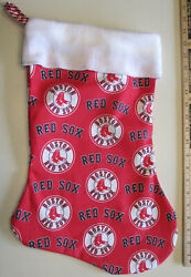 Red Sox Boston Christmas Stocking Aprox 16quot;x12quot; Lg Homecraft Lined