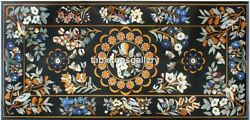 26x52 Multi Stone Birds And Floral Inlay Marble Top Dining Table Decorative B053