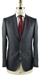 New Isaia Napoli Suit 100 Wool 130's Sz 46 Us 56 Eu 8r 18ivw4