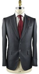 New Isaia Napoli Suit 100 Wool 130's Sz 40 Us 50 Eu 8r 18ivw4