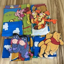 Disney Winnie The Pooh 16 Piece Vintage Twin Bedding Set Wall Decor And Curtains