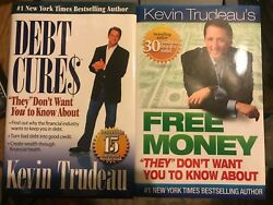 Kevin Trudeau Lot Of 2 Books Debt Cures And Free Money Hardcovers Free Shipping