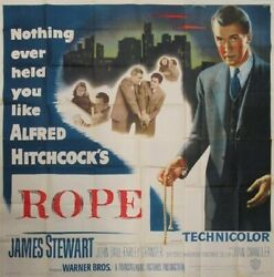 The Rope Original Six Sheet Movie Poster Stewart - Hitchcock Hollywood Posters