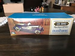 Vintage 1971 Ezra Brooks The Duesenberg Real Sippin Whiskey Decanter And Box