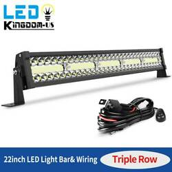 450w 22inch Led Light Bar And Wiring Triple Row Combo Ute Truck Suv 4wd Boat 24and039and039