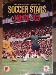 Vgc Fks 1974 - 1975 Soccer Stars No Writing Order Forms Intact 74 75