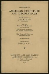 N/a / Early American Furniture Hepplewhite Sheraton Chippendale And Duncan Phyfe